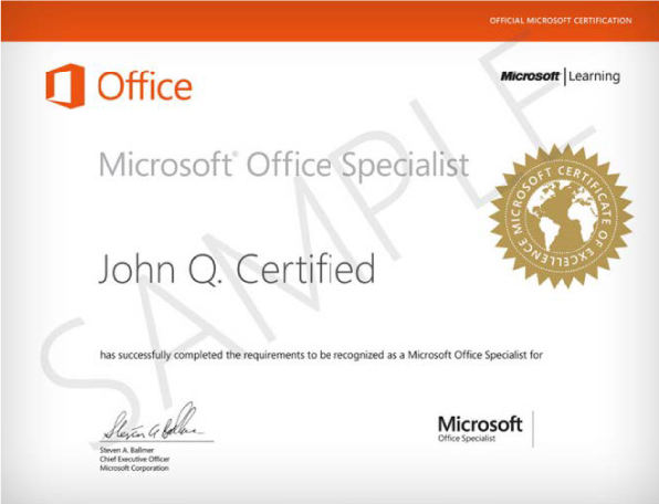 Certificazione MOS - Microsoft Office Specialist - MyWeb School